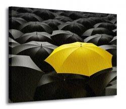 Obraz do salonu - Żółty parasol - 120x90 cm