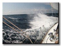 Obraz na płótnie - Wzburzone morze - 120x90 cm