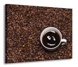 Obraz do kuchni - Coffee smile - 120x90 cm
