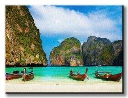 Obraz Krajobraz - Zatoka, Tailandia - 120x90 cm