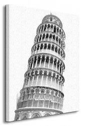 Krzywa Wieża w Pizie - Obraz na płótnie