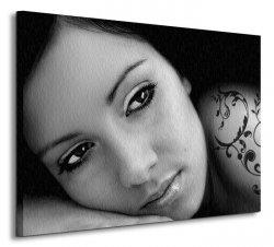 Piękna Kobieta, tatuaż - Obraz na płótnie