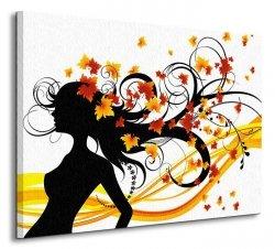 Jesienna fryzura - Obraz na płótnie