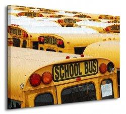 New York, Shool Bus - Obraz na płótnie