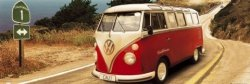 Vw Californian Camper Route One  - plakat