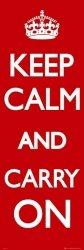 Keep Calm Carry On - plakat