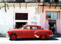 Havana Cuba, cadillac - fototapeta 254x183 cm