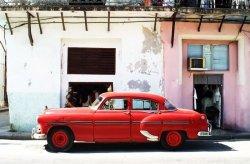 Havana Cuba - cadillac - fototapeta 175x115 cm