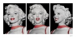 Marilyn Monroe (Red Dress Triptych) - reprodukcja