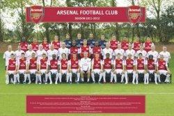 Arsenal Londyn Zdjęcie Drużynowe 11/12 - plakat