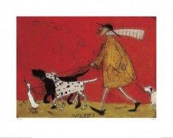 Doris z psami - reprodukcja