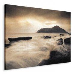 Sepia Sea, Lofoten Islands - Obraz na płótnie