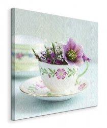 A Cupful of Flowers  - Obraz na płótnie