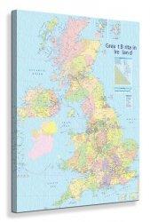British Isles Map - Obraz na płótnie