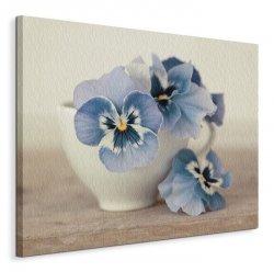 Obraz na płótnie - Kwiatki - Pansies - 40x50 cm