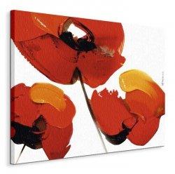 Three Poppies - White - Obraz na płótnie