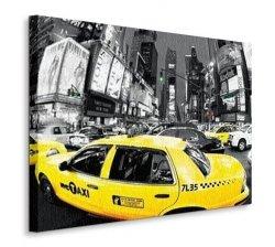 Rush Hour Times Square - Yellow - Obraz na płótnie