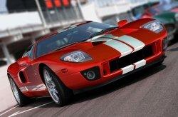 Czerwony sportowy samochód - fototapeta 175x115 cm