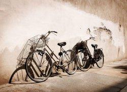 Fototapeta ścienna - Stare rowery, Włochy  320x230 cm