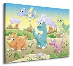 Obraz dla dziecka - Dino, dinuś, dinozaury - 60x80 cm