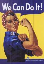 Obraz na drewnie - Rosie The Riveter