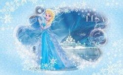 Fototapeta dla Dzieci - Kraina Lodu Frozen Elsa - 368x254cm