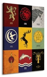 Obraz do salonu - Game of Thrones (Sigils)