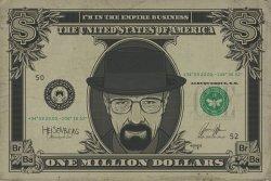 Breaking Bad Heisenberg Dollar - plakat