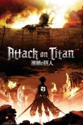 Attack On Titan Key Art - plakat