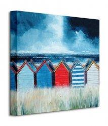 Beach Huts I - Obraz na płótnie