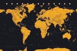 Mapa Świata Złota - plakat