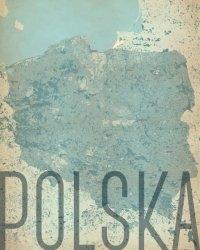 Polska, vintage - mapa