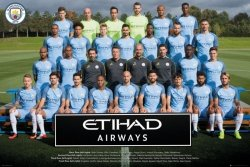 Manchester City Drużyna Zdjęcie - plakat