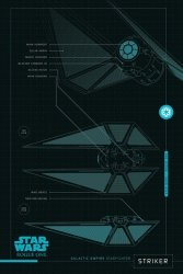 Star Wars Łotr 1 (Striker Plans) - plakat