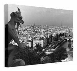 Obraz na płótnie - Widok z Katedry Notre-Dame, Paris