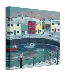 A Walk Round Winter Harbour - obraz na płótnie