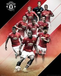 Manchester United Players 17/18 - plakat