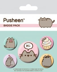 Pusheen (Pusheen Says Hi) - przypinki