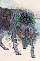 Journeying Spirit Wolf - plakat
