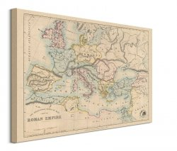 Stanfords Mapa Imperium Rzymskiego 1879 - obraz na płótnie