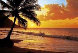 Fototapeta zachód słońca nad Pacyfikiem