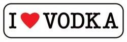 I Love Vodka - plakat