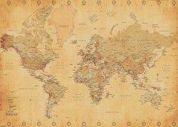 Mapa świata (Vintage Style) - plakat