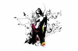 Fototapeta na ścianę - Kobieca abstrakcja - 175x115 cm