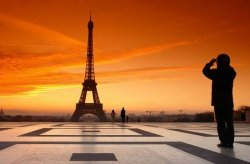 Fototapeta na ścianę - Wieża Eiffel Za - 175x115 cm
