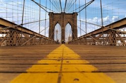 Fototapeta - Brooklyn Bridge - 175x115 cm