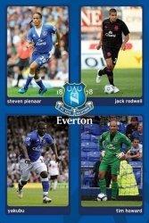 Everton (Rodwell, Yakubu, Pienaar & Howard) - plakat