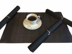 Podkładki na stół - Czarne - Komplet 4szt
