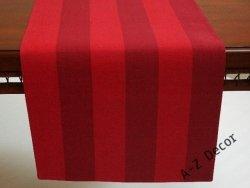 Bieżnik na stół - Czerwony w pasy - 42x140cm