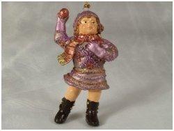 Ozdoba choinkowa - Dziecko ze śnieżką - 10cm - (6szt w opakowaniu)